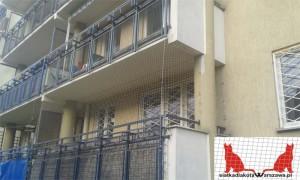 zabezpieczenie balkonu kocią siatką Warszawa
