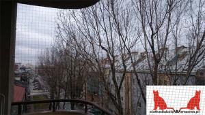 siatka dla kota na balkon Warszawa Ursynów