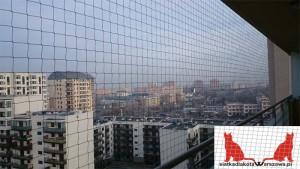 siatka dla kota na balkon Warszawa Białołęka