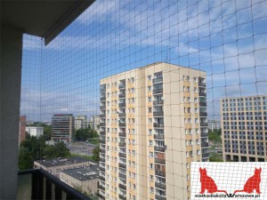 siatka na balkon Warszawa Wawer
