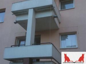 siatka na balkon Warszawa Mokotów