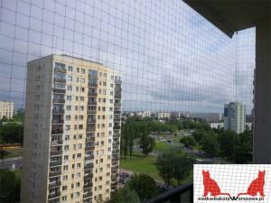 siatka na balkon Warszawa Wilanów