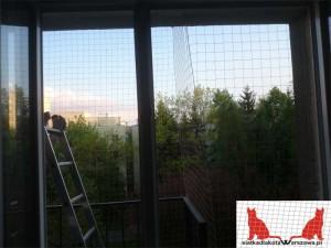 siatka na balkon Warszawa Ursynów