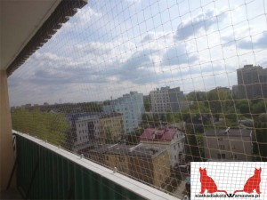 siatka dla kota na balkon W-wa Wola